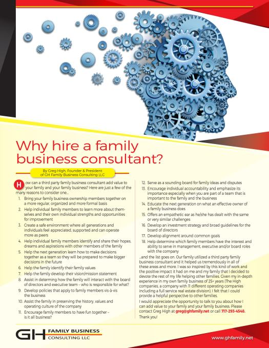 GHFB_LLC_Why Hire a Family Business Consultant
