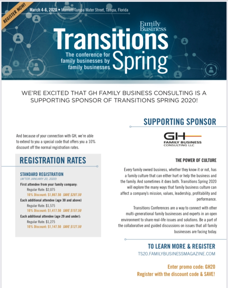 Transitions Spring 2020 GH